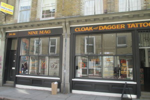 Cloak and dagger tattoo parlour for Pulse tattoo peterborough